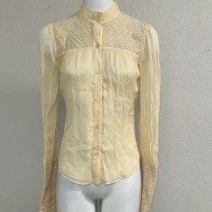 Diane Von Furstenberg Silk Vintage Blouse Size 4